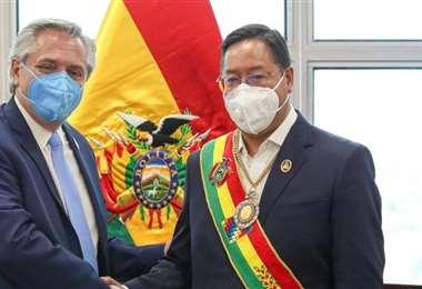 Fernández y Arce, presidentes de Argentina y Bolivia/Foto: Internet