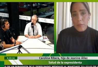 Carolina Ribera, hja de Jeanine Áñez, participó hoy en Influyentes