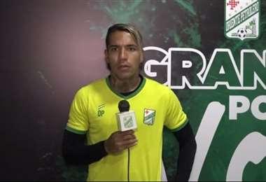 Dayro Moreno durante una conferencia de prensa virtual. Foto: Captura TV