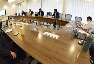 Directos de la empresa brasileña se reunieron con ejecutivos de YPFB/Foto: YPFB