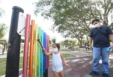 Parque Los Cedros, en el Distrito 9, ya recibe a los vecinos