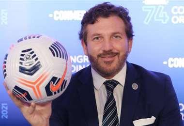 Alejandro Domínguez, presidente de la Confederación Sudamericana de Fútbol. Foto: Conmebol