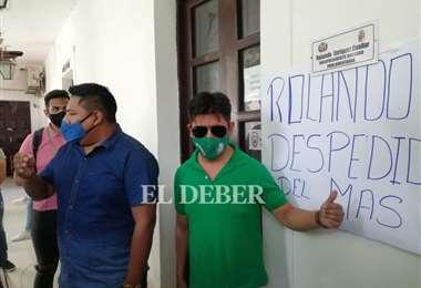 Sectores urbanos del MAS piden la renunica de Rolando Cuellar. Foto: JC Torrejón