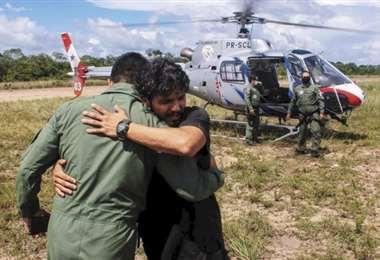 Antonio Sena, cuando por fin llegó a casa /Foto: CCNesnoticias