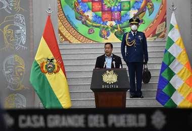 El presidente Arce en conferencia de prensa I APG Noticias.