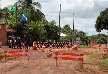 La presencia militar se intensifica en Corumbá. Foto Correio do estado