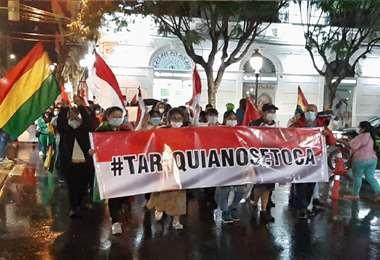 Recorrieron las calles de la capital tarijeña