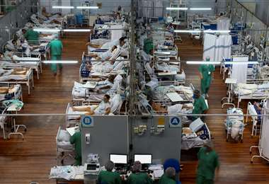 Enfermos con Covid-19 en Brasil /Foto: AFP