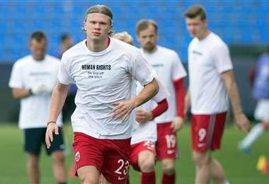 Haaland, delantero noruego del Borussia Dortmund. Foto: AFP