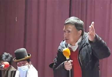 Captura de pantalla de la intervención de Quintana en El Alto