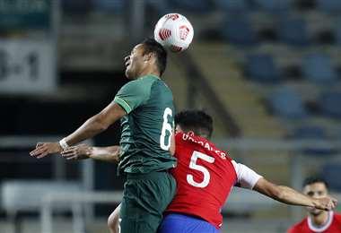 La selección juega un amistoso contra Chile en Rancagua. Foto: AFP