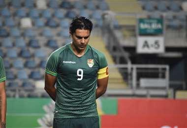 Marcelo Martins fue capitán este viernes ante Chile. Foto: FBF