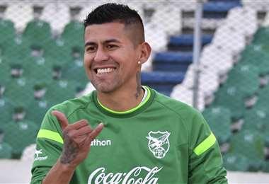 Juan Carlos Arce, delantero de la selección nacional. Foto: El Deber