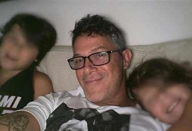 Alejandro Sanz junto a sus hijos Dylan y Alma Sánchez