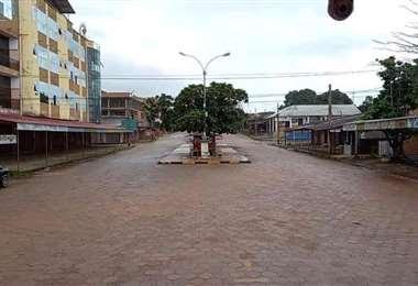 Así se encuentra la ciudad fronteriza de Guayaramerín