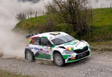 El coche Skoda de Bulacia, que corrió con el número 22. Foto: Prensa Bruno Bulacia