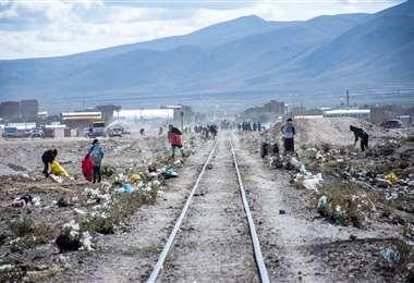 Fotografías: Uyunify . Los vecinos de Uyuni, movilizados la mañana del sábado