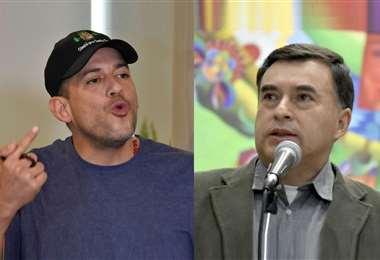 """Camacho (izq.) sostuvo que Quintana (der.) """"sigue generando confrontación y violencia"""""""