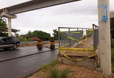 Demandan que se habilite la pasarela del lugar. Foto: Soledad Prado
