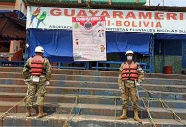 Control fronterizo en Guayaramerín para frenar la cepa amazónica. Foto: internet