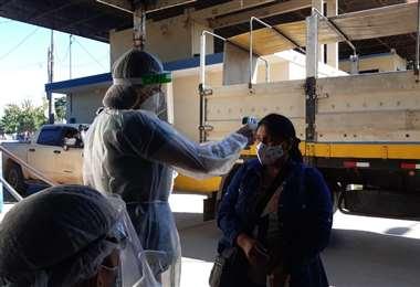 Control sanitario en la frontera con Brasil. Foto Sedes