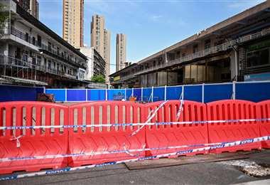 El mercado de Wuhan donde se cree que surgió el coronavirus. Foto AFP