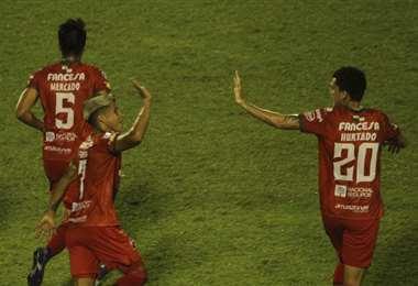 Guabirá celebrando su victoria en la Sudamericana. Foto: APG Noticias