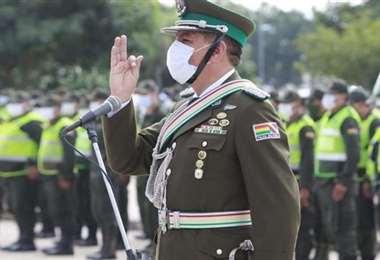 Orlando Ponce, comandante departamental estuvo en EL DEBER Radio. Foto: JC Torrejón
