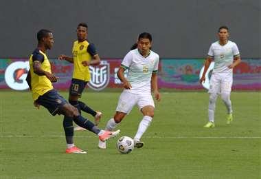 Bolivia perdió este lunes contra Ecuador en Quito por 2-1. Foto: APG Noticias