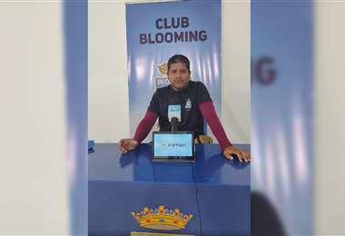 Óscar Villegas, segundo entrenador de Blooming. Foto: Club Blooming