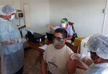 Sedes refuerza el control sanitario en frontera. Foto: Gobernación de Santa Cruz