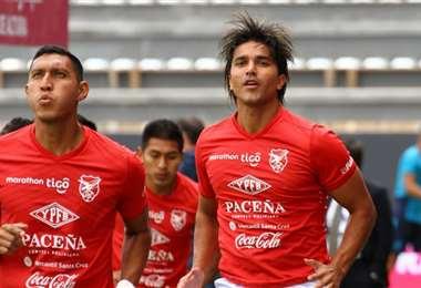 Montero y Martins (der), integrantes de la selección. Foto: FEF
