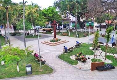 Esta es la plazuela Calleja donde se llevan a cabo actividades culturales