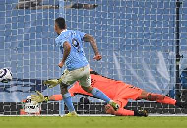 La definición de Gabriel Jesús, delantero del Manchester City. Foto: AFP