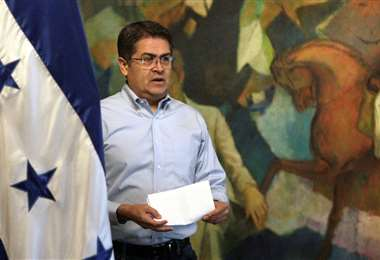 Presidente hondureño Juan Orlando Hernández da mensaje tras sentencia de su hermano