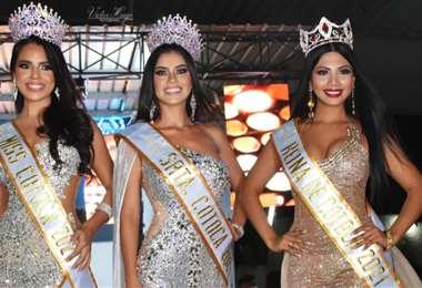Katherine Paniagua, Alisson Dhamar y Pamela Antezana
