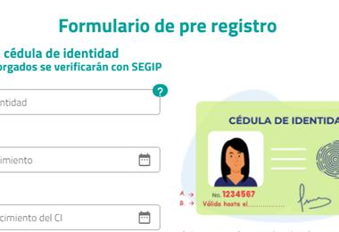 El formulario de pre registro I captura.