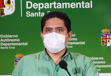 Marcelo Ríos, secretario de Salud de la Gobernación de Santa Cruz. Foto. Dircom
