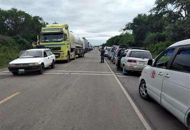 Bloqueo de ruta en Tarija