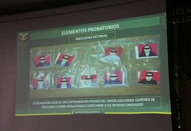 Los datos presentados por la Felcc I Gobierno.