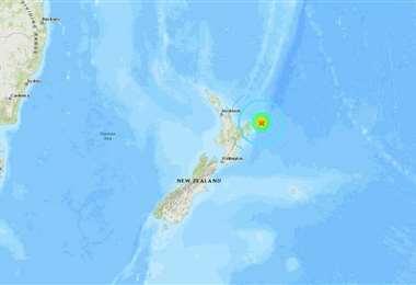 El epicentro está a 1.033 kilómetros de las costas de Nueva Zelanda