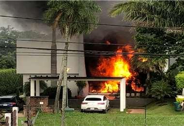 Se registraron daños materiales en la estructura de la vivienda