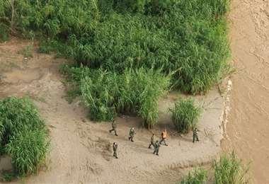Lugar donde se desencadenó la tragedia del gomón. Foto El Tribuno