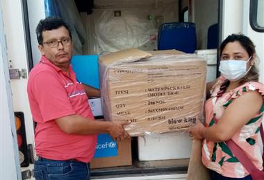 La vacuna contra el Covid-19 llegan a las provincias. Foto. EL DEBER