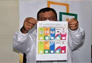 Foto referencial, el material electoral llegará hasta la Fexpocruz