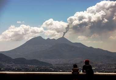 Volcán Pacaya en erupción/Foto: Archivo infobae