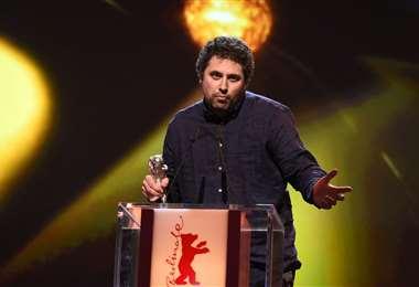 Radu Jude habla en la entrega de premios de la Berlinale 2021