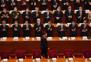 Xi Jinping llega a la ceremonia de apertura de la Asamblea Popular Nacional