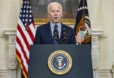 Biden celebró la aprobación de su plan en el Senado