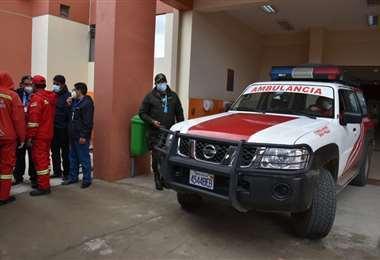 Los heridos fueron evacuados en ambulancias de la UPEA